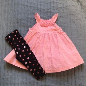 Gymboree poof dress with leggings
